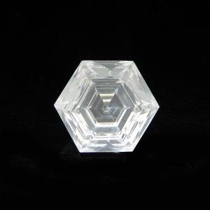 Natural Crystal Quartz 13x13mm Hexagon Concave Cut 8.20 Cts