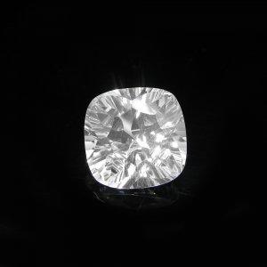 Natural Crystal Quartz 14x14mm Cushion Concave Cut 9.85 Cts