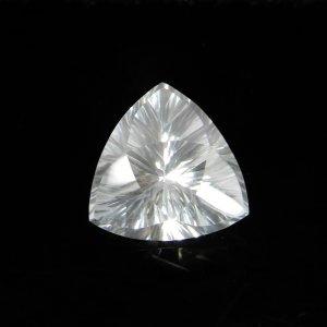 Natural Crystal Quartz 14x14mm Trillian Concave Cut 8.00 Cts