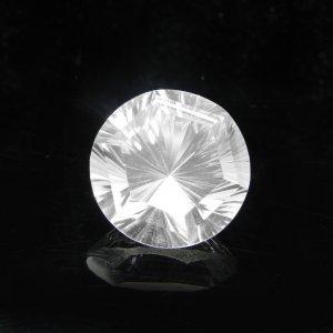 Natural Crystal Quartz 16x16mm Round Concave Cut 14.25 Cts