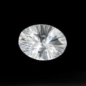 Natural Crystal Quartz 19X14mm Oval Concave Cut 12.65 Cts