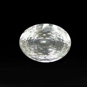 Natural Crystal Quartz 23x17mm Oval Concave Cut 21.75 Cts