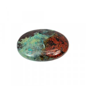 Natural Cuprite Chrysocolla Oval Cabochon 32x23mm 39.55 Cts Loose Gemstone