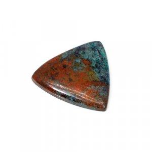 Natural Cuprite Chrysocolla Trillion Cabochon 27mm 34.90 Cts Loose Gemstone