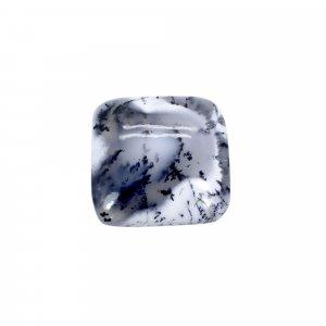 Natural Dendritic Opal 21x21mm Cushion Cabochon 22.50 Cts
