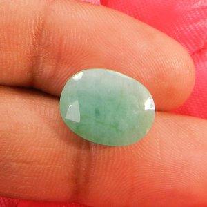 Natural Emerald 15x11mm Oval Cut 5.75 Cts (6.25 Ratti )