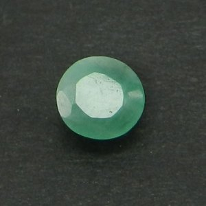 Natural Emerald 4mm Round Cut 0.3 Cts