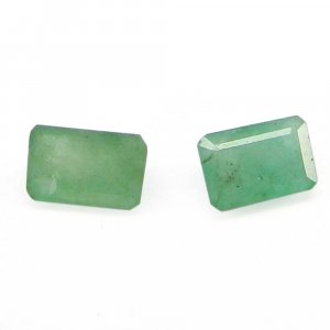 Natural Emerald 5x3mm Rectangle Cut 0.6 Cts