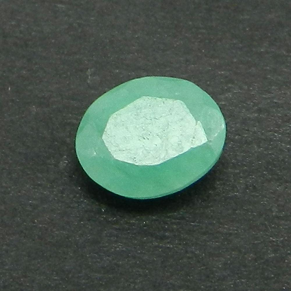 Natural Emerald 5x4mm Oval Cut 0.3 Cts