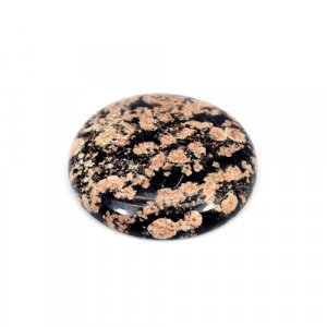 Natural Fireworks Obsidian Round Cabochon 25mm 23.2 Cts Loose Gemstone
