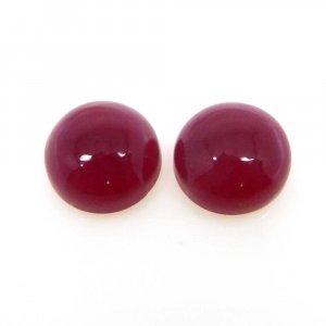 Natural Fuchsia Chalcedony 10mm Round Cabochon 3.75 Cts