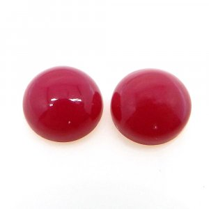 Natural Fuchsia Chalcedony 11mm Round Cabochon 5.25 Cts