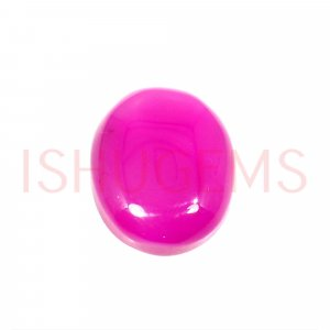 Natural Fuchsia Chalcedony 17x14mm Oval Cabochon 11.10 Cts