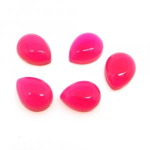 Natural Fuchsia Chalcedony 9x7mm Pear Cabochon 2.05 Cts