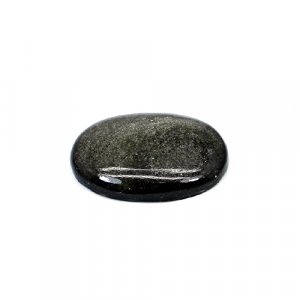 Natural Gold Sheen Obsidian 23x17mm Oval Cabochon 12.20 Cts Loose Gemstone