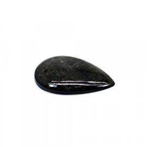 Natural Gold Sheen Obsidian 26x17mm Pear Cabochon 12 Cts Loose Gemstone