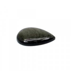 Natural Gold Sheen Obsidian 31x20mm Pear Cabochon 23.80 Cts Loose Gemstone