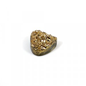 Natural Golden Druzy 10.45 Cts Heart 14mm Loose Gemstone