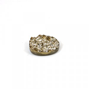 Natural Golden Druzy 10.8 Cts Oval 18x13mm Loose Gemstone