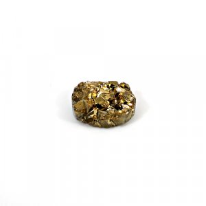 Natural Golden Druzy 12.30 Cts Oval 17x13mm Loose Gemstone