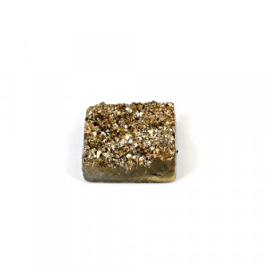 Natural Golden Druzy 12.50 Cts Rectangle 15x14mm Loose Gemstone