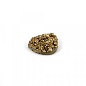 Natural Golden Druzy 12.70 Cts Pear 18x13mm Loose Gemstone