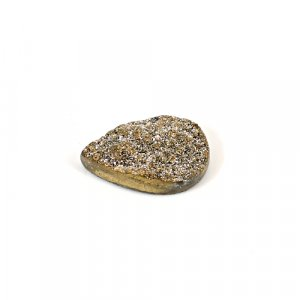Natural Golden Druzy 13.60 Cts Pear 22x15mm Loose Gemstone