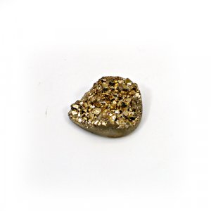 Natural Golden Druzy 16.20 Cts Pear 20x17mm Loose Gemstone