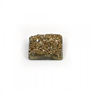 Natural Golden Druzy 16.25 Cts Rectangle 17x12mm Loose Gemstone