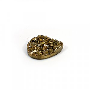 Natural Golden Druzy 16.55 Cts Pear 23x16mm Loose Gemstone
