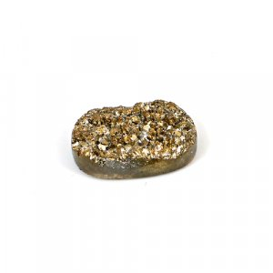 Natural Golden Druzy 16.60 Cts Oval 22x14mm Loose Gemstone
