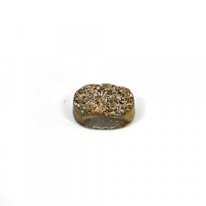 Natural Golden Druzy 18.75 Cts Oval 19x14mm Loose Gemstone