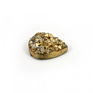 Natural Golden Druzy 18.95 Cts Pear 22x15mm Loose Gemstone
