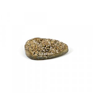 Natural Golden Druzy 19.60 Cts Pear 27x16mm Loose Gemstone