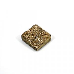 Natural Golden Druzy 20.40 Cts Square 16mm Loose Gemstone
