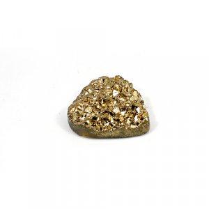 Natural Golden Druzy 21.50 Cts Heart 22mm Loose Gemstone
