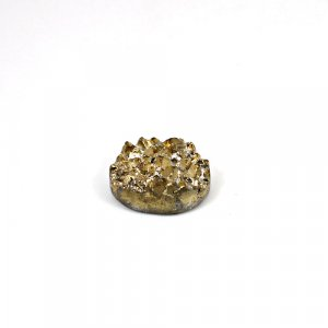 Natural Golden Druzy 23.35 Cts Oval 20x16mm Loose Gemstone