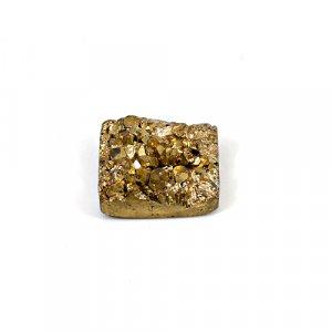 Natural Golden Druzy 23.60 Cts Square 18mm Loose Gemstone
