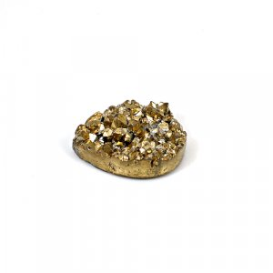 Natural Golden Druzy 27.10 Cts Pear 25x20mm Loose Gemstone
