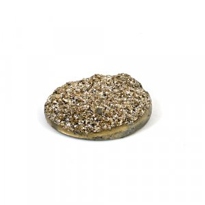 Natural Golden Druzy 31.45 Cts Oval 28x21mm Loose Gemstone