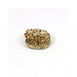 Natural Golden Druzy 7.7 Cts Oval 12x11mm Loose Gemstone