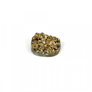 Natural Golden Druzy 8.40 Cts Oval 15x11mm Loose Gemstone