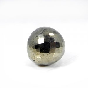 Natural Golden Pyrite Onion Checker Cut 16mm Round 52.80 Cts
