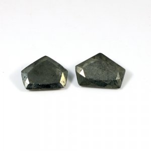 Natural Golden Pyrite Pentagon Cut 22x15mm 1 Pair 55.8 Cts Loose Gemstone