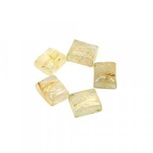 Natural Golden Rutile 11x9mm Rectangle Cabochon 30.55 Cts 5 Pcs Wholesale Lot