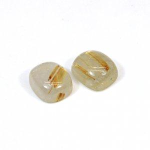 Natural Golden Rutile 14x12mm Cushion Cabochon 22.80 Cts1 Pair Loose Gemstone