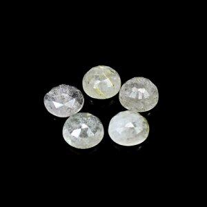 Natural Golden Rutile 17 Cts Round Rose Cut 10mm 5 Pcs Lot Loose Gemstone