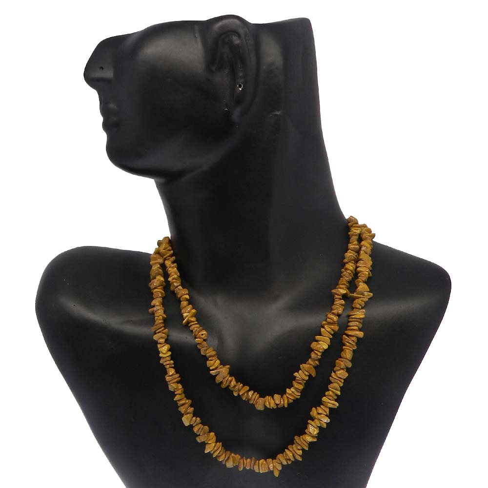 Natural Goldi Jasper 7-9mm Approx 34 Inch Length Chips Strand Beads
