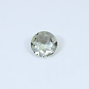Natural Green Amethyst  2.55 Cts Round Checker Cut  10mm Loose Gemstone