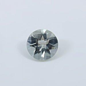 Natural Green Amethyst  2.7 Cts Round Checker Cut 10mm Loose Gemstone